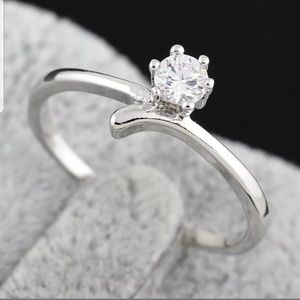 Fashion silver plated wedding/engagement ring